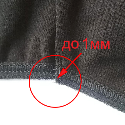 Offsets up to 1mm on small parts are allowed. Thread less than 3mm is not trimmed.