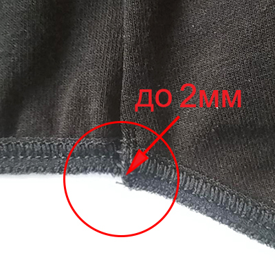 Offsets up to 2mm on small parts are allowed. Thread less than 5mm is not trimmed.